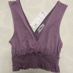 Urban outfitters purple crop